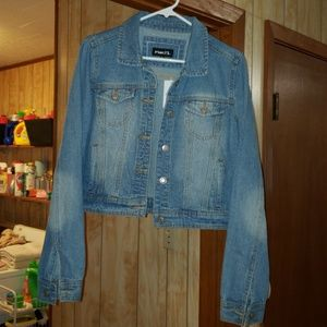 Jean crop jacket